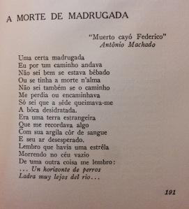 Poema dedicado a García Lorca