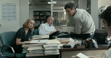Spotlight McCarthy film movie McAdams Keaton Ruffalo Pfeiffer Robinson Rezendes